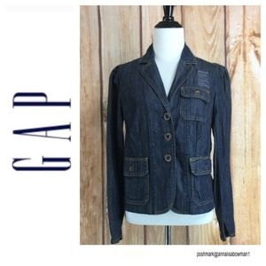 💸GAP 3 Button up Denim Blazer size Small